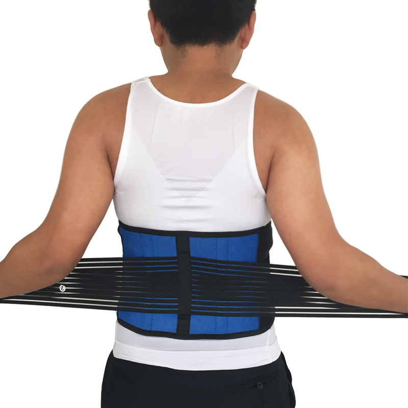 Posture Adjustable Neoprene Double Pull Lumbar spine Support Lower elasticated back support Belt Brace Pain Relief Band Waist trendy long slightly curled mixed color side parting synthetic hair wig for women