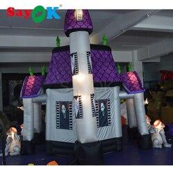 Хэллоуин надувной с привидениями Хо использовать ужасающие яркие надувные Хэллоуин украшение с светодиодный свет для коммерческого или до...