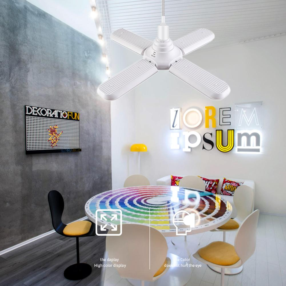 60 W E27 Led-lampe Super Helle Faltbare Fan Klinge Winkel Einstellbar Decke Lampe Home Energy Saving Lichter Lager Lampe Supplement Die Vitalenergie Und NäHren Yin