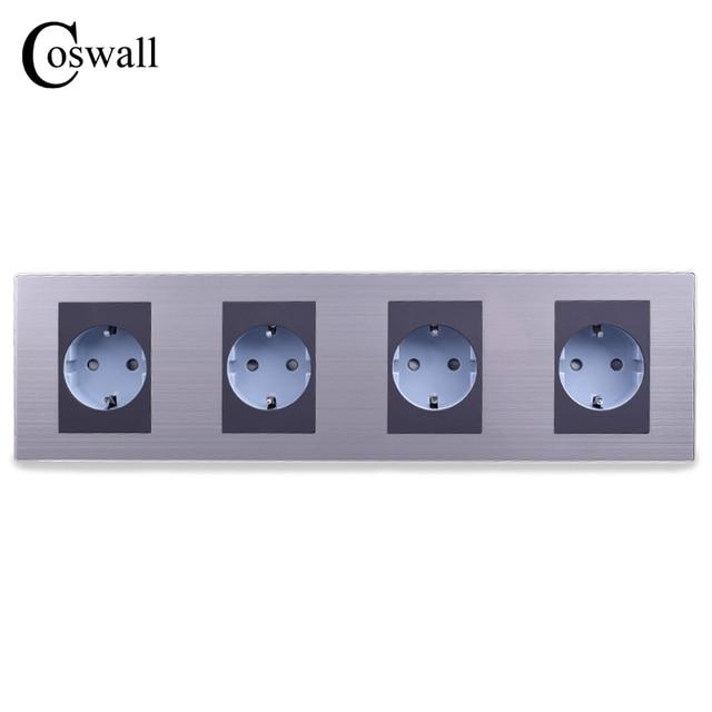 Aliexpress Com Buy Coswall 16a Eu Standard Quadruple Outlet Luxury