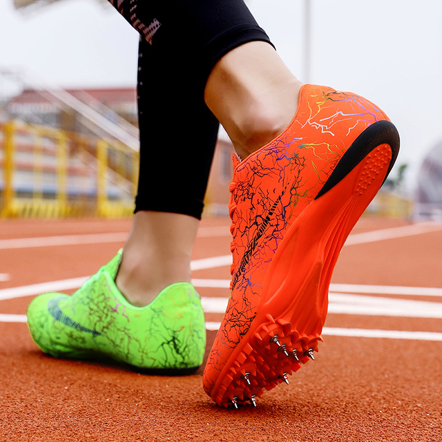 Spike Shoes Track and Field Men Women Training Athletic Shoes Professional Running Track Race Jumping Soft Shoes Sneakers 35-45 1