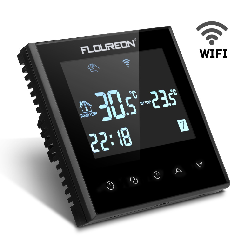 Floureon Smart Wi Fi Programmable Thermostat Digital Touch Screen Room Temperature Controller