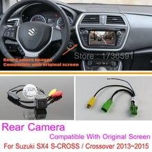 Для Suzuki SX4 S-CROSS/Кроссовер/RCA & Оригинальный Экран Совместимость/автомобильная Камера Заднего вида Комплектов/HD Резервного Копирования Камера Заднего Вида