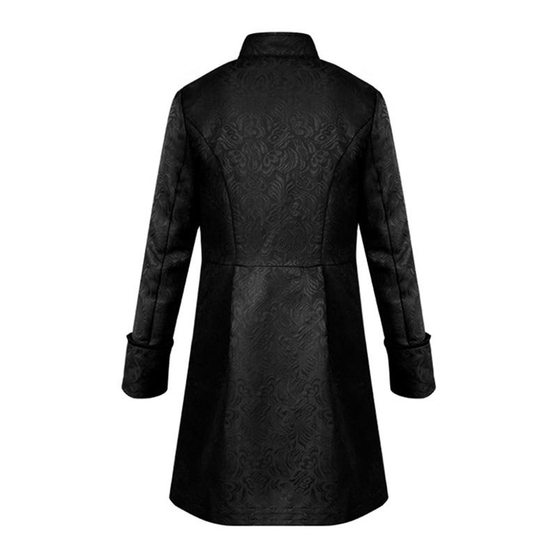 HTB1ZzMdbdfvK1RjSspfq6zzXFXaE Spring Retro Gothic Steampunk Jacket Men Vintage Floral Outerwear Coat Casual Windbreaker Button Mens Overcoat Plus Size Jacket