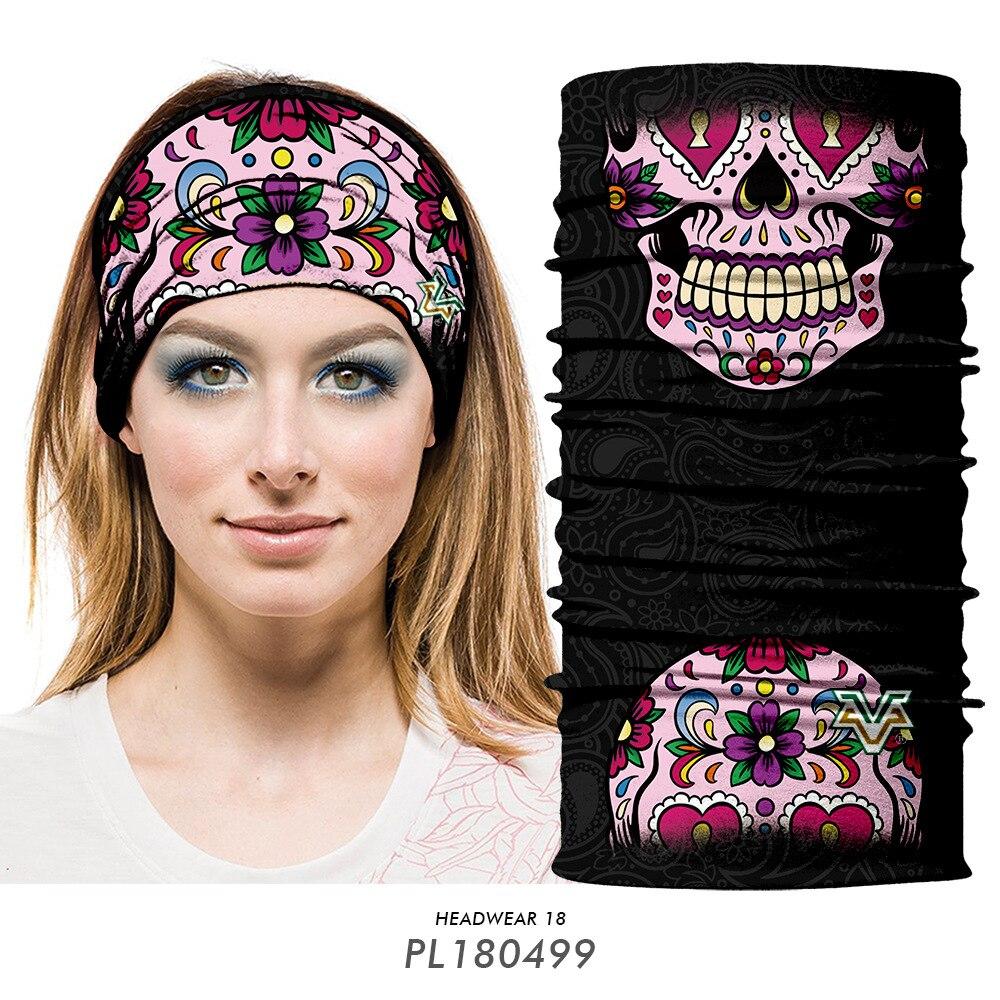 Magic Headwear Colored Floral Outdoor Scarf Headbands Bandana Mask Neck Gaiter Head Wrap Mask Sweatband
