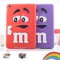 Crianças à prova de choque capa de silicone macio m & m caso de chocolate para ipad mini 1 m-íris beans capa para ipad mini 2 mini 3 caso tablet