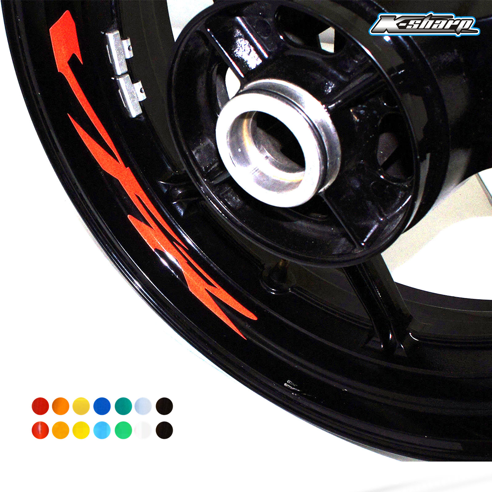 8 X Custon Inner Rim Decals Wheel Reflective Sign Stickers Stripes FIT HONDA VFR