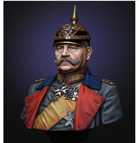 Resin Kits <font><b>1/10</b></font> <font><b>Scale</b></font> of the first world war Uncolor field marshal Hindenburg Figure Resin <font><b>Bust</b></font> Model Kit Free Shipping image