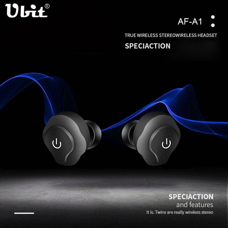 bilder für Ubit AF-A1 Wahre Drahtlose Kopfhörer 2 Stücke Sport Bluetooth 4,2 Kopfhörer Headsets Mit Mikrofon freisprech Für IOS Xiaomi Android