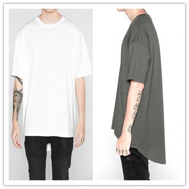 4ffbf7d65f7 US $19.99 |2017 New Hooded T Shirt Hipster Hip Hop Streetwear T Shirt Men  Longline Zipper T Shirts Short Sleeve Tees -in T-Shirts from Men's Clothing  ...