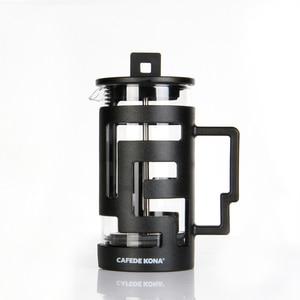 Image 4 - Cafetiere ฝรั่งเศสกดเครื่องชงกาแฟ 350ML 800ML เครื่องอัดฉีดเครื่องชงกาแฟหม้อแก้วเกรดอาหารผนังให้ช้อน