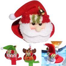 Weihnachten wein glas tasse dekoration abendkleid Weihnachten Santa Claus Schneemann Weihnachten dekorationen für home 40% off