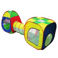 Free Shipping Cubby Tube Teepee 3pc Pop Up Play Tent Children Tunnel Kids Adventure House