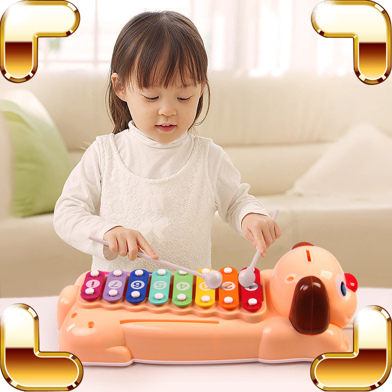Új érkezés Ajándék Baby Piano Toy Musical Instrument 8 Kulcsok Easy Play Játék Oktatási játékok Zene tanulási eszköz Gyerekek felvilágosító játék