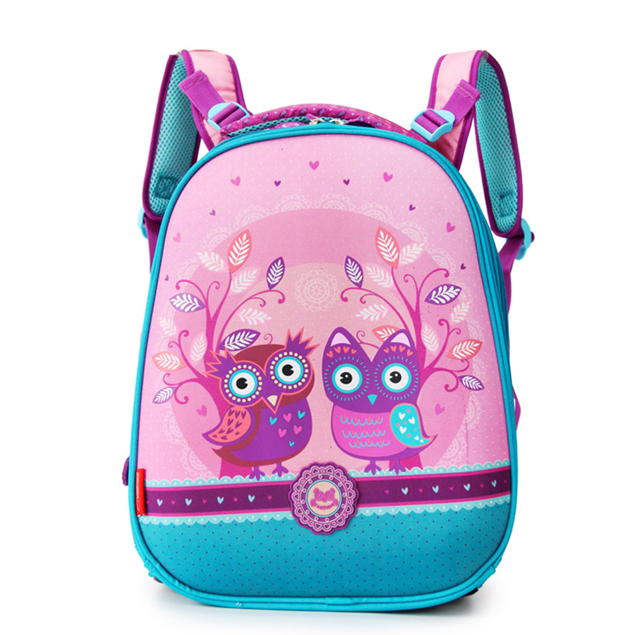 2018 New Fashion School Bag for Girls Owl Print Cartoon Dog Backpack Children Orthopedic Antifreeze Book Bags Schoold Bag цена 2017