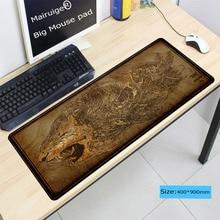 Mairuige 400x900x3mm Large Gaming Mouse Pad Gamer Lion Tiger Locking Edge Grande Mousepad Keyboard Mouse Mat for CSGO DOTA Gamer