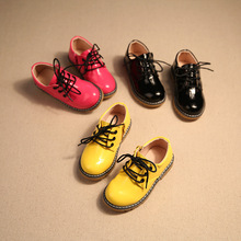 spring and autumn new leather boys and girls waterproof shoes kids children form