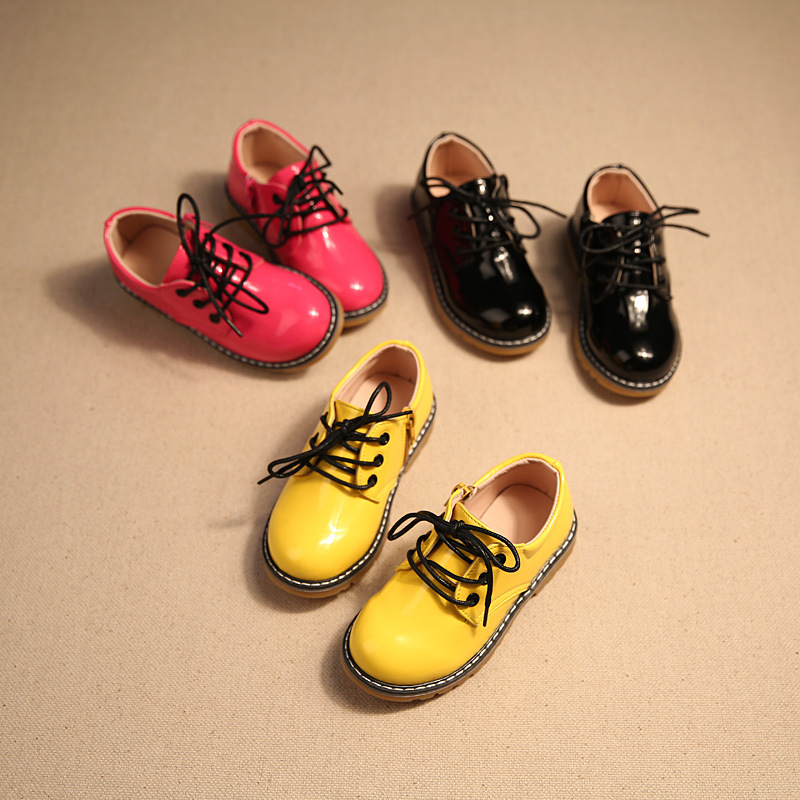 spring and autumn new leather boys and girls waterproof shoes kids children formal shoes boys black school shoes formal sho