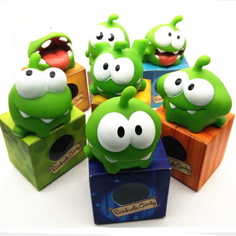 In Stock Cut the Rope Kids Toys One Pice 7 CM Genuine Om Nom Plush Toy With Sound Z140