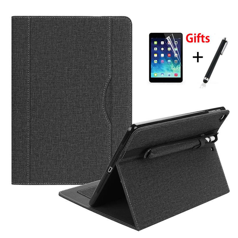 Case For Apple iPad 9.7 6th Generation 2018 2017 Cover For iPad Air 1 2 iPad Pro 9.7 Funda With Pencil Holder Shell +Film+Pen