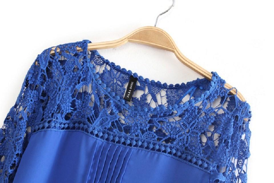 Женские блузки и Рубашки Blusas 2015 Chiffon lace blouse
