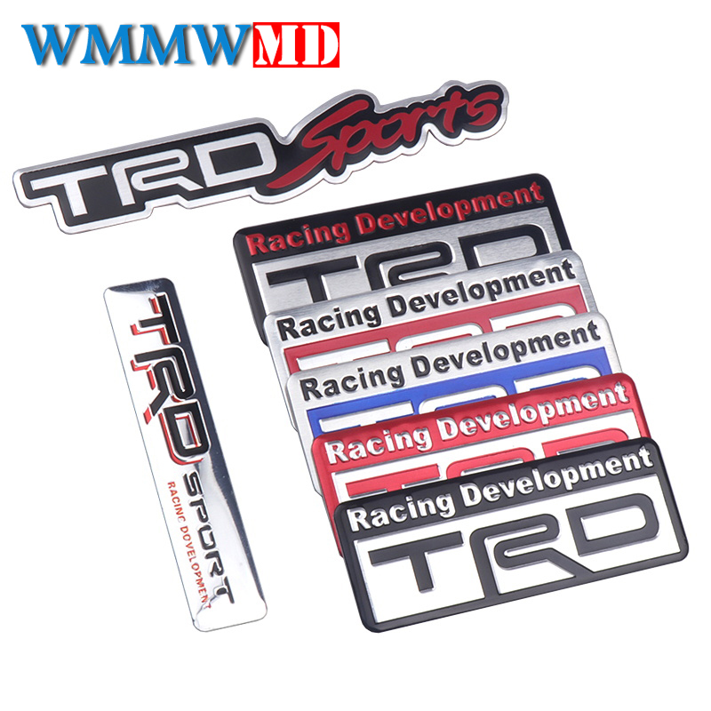 Car Styling 3D Metal Refitted TRD Racing Development Emblem Decal For Toyoda Sports Decorative Vehicle Sticker Auto Accessories