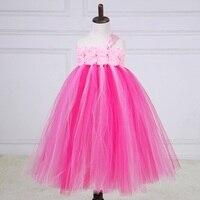Princesa Girl Tutu vestido para la boda cumpleaños Correa larga patchwork niña puffy vestido de fiesta 1-10Y