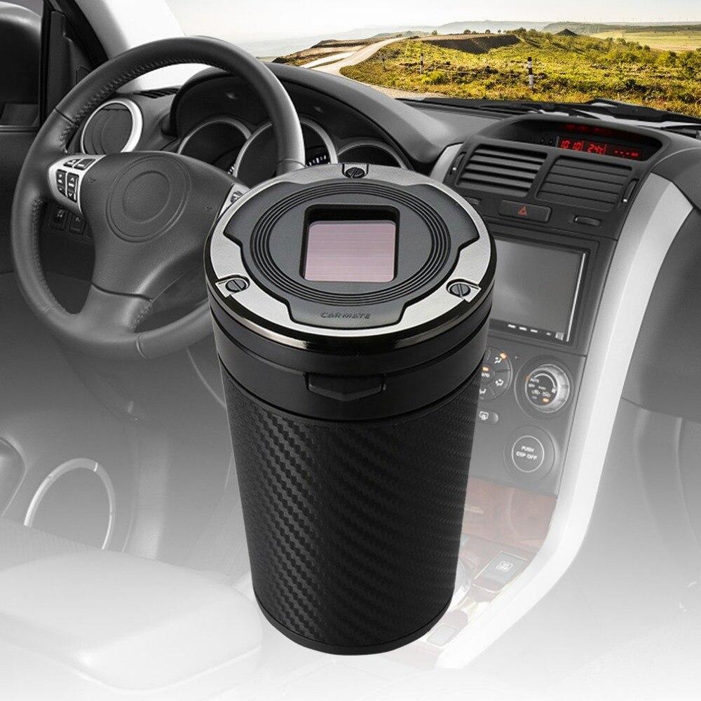 AUTO MATE Zonne energie Auto Asbak Rookloze met led verlichting ...