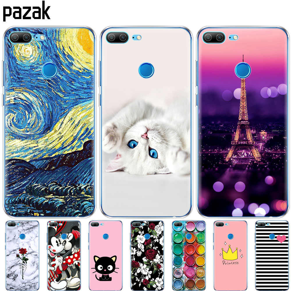 Silicone phone Case For huawei honor 9 honor 9 lite cases soft TPU Phone shell Back cover full 360 Protective colorful