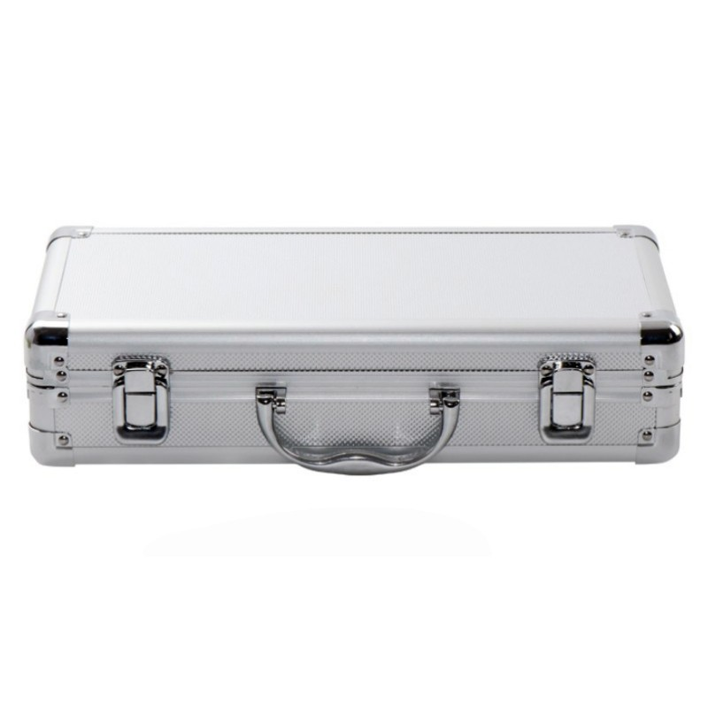 360x170x90mm Portable Aluminum Alloy Tool Box With Sponge Lining Impact Resistant Safety Case Suitcase Storage Case