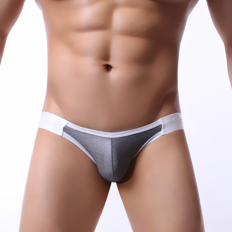 <font><b>Shiny</b></font> Thong <font><b>Men</b></font> <font><b>Sexy</b></font> Mini Low Waist <font><b>Mens</b></font> <font><b>Underwear</b></font> Thong Cotton Tanga Panties Penis Pouch Male Lingerie <font><b>Gay</b></font> Underpants Brands image