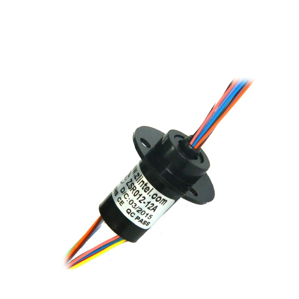 ZSR012 12A 12 Channel 2A High Speed Ball Precision Turntable Conductive Slip Ring Out Diameter 12