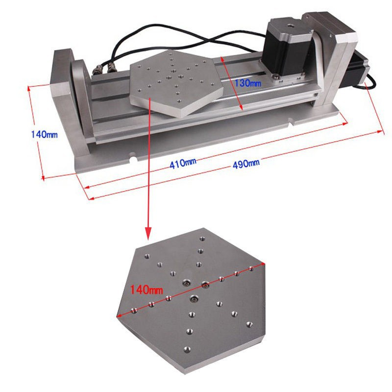 Desktop CNC Router 5 Axis CNC Machine 2.2KW CNC Milling Machine High-Precision Ball Screw Table Column Type