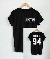 2017 Justin Bieber T Shirt Men Band Boy Tshirt Rock Hip Hop Short Sleeve Name And