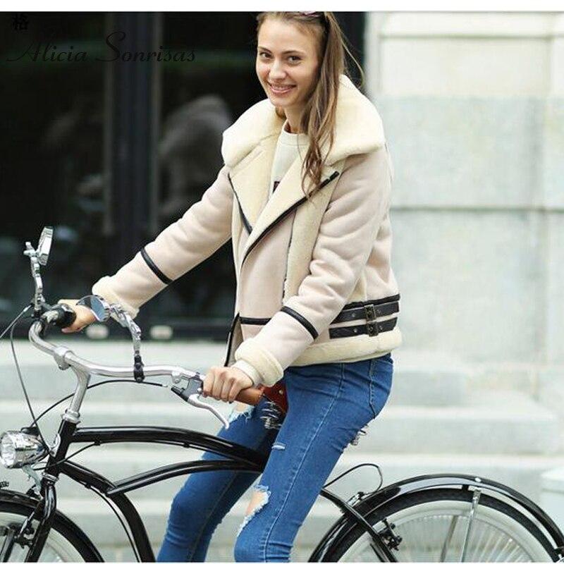 Motociclista Camurça Sonrisas Inverno