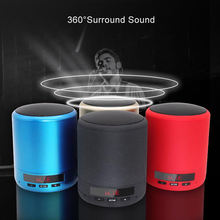 лучшая цена Mini Portable Bluetooth Speaker Wireless Column Bass Sound Stereo Subwoofer Fm Radio Handsfree Tf Card Usb Mp3 Player For Phon
