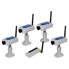 Wireless 2.4Ghz USB DVR +4 CH Camera Digital Security Camera Monitor System Kit