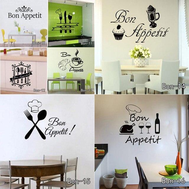 AWOO Bon Appetit Coltelli E Forchette Cucina Adesivi Per Piastrelle ...