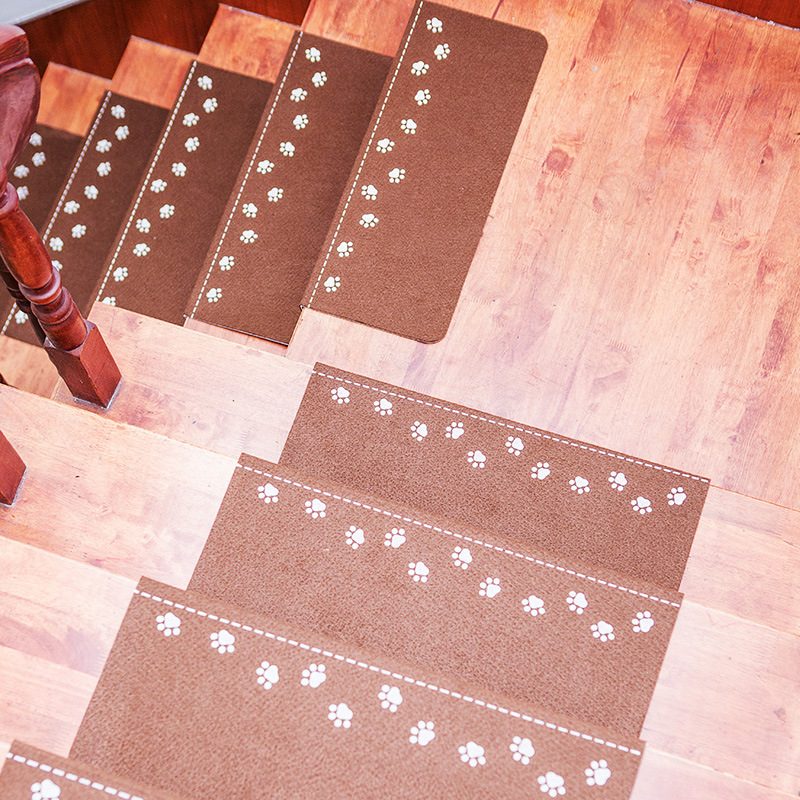 5pcs Luminous Stairs Carpets Non-Slip Self-Adhesive Staircases Mats Step Rectangle Rugs Family Kids Old Man Safe Stair Carpet