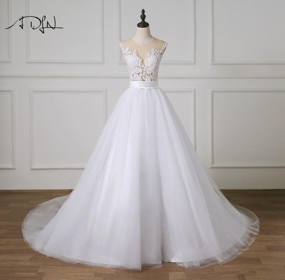 Bodice Wedding Gown: ADLN Charming A Line Wedding Dress 2019 Illusion Bodice