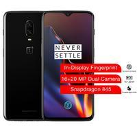 Oneplus 6T Smartphone 6.41 Inch Snapdragon 845 In Display Fingerprint Dual Camera Unlock Screen 6 GB RAM 128GB ROM UK Version