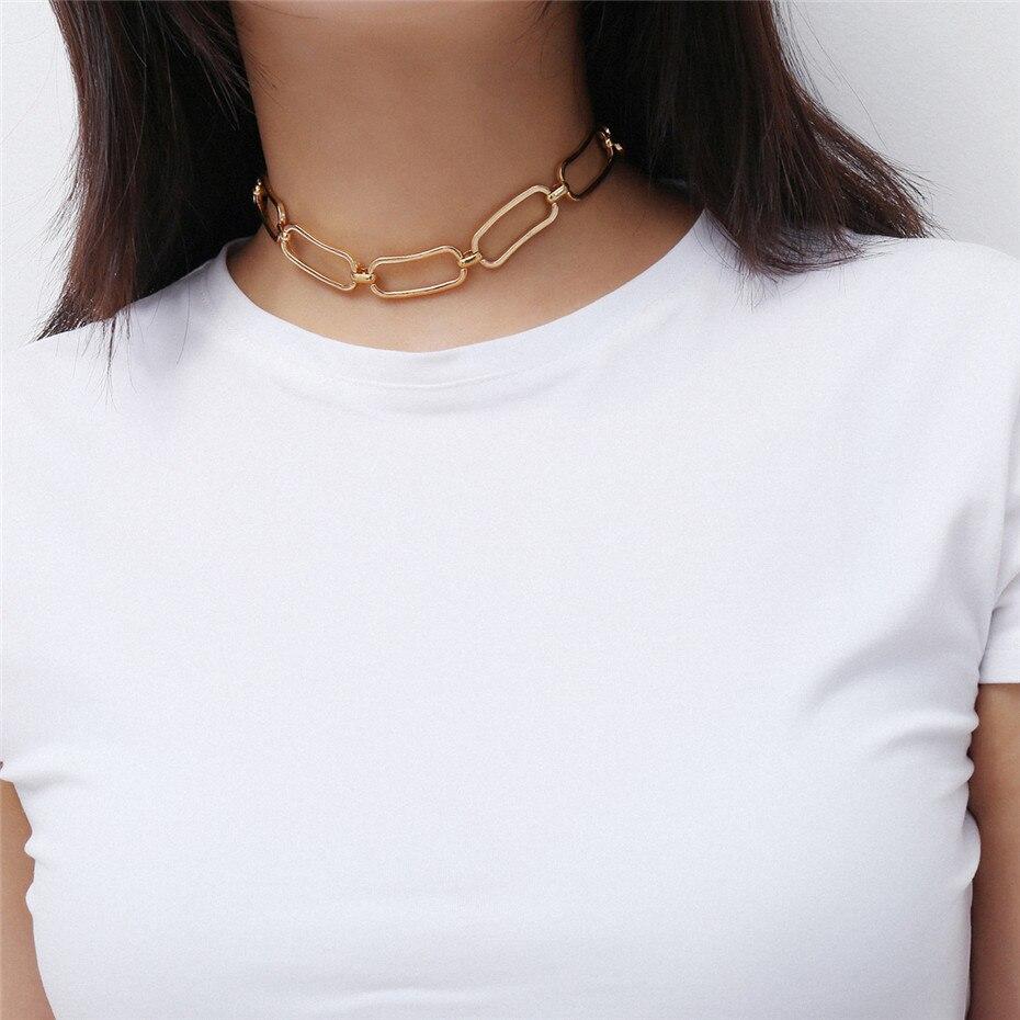 Ingemark Korean Sweet Love Heart Choker Necklace Statement Girlfriend Gift Cute Gold Silver Necklace Jewelry Collier Femme 18 11