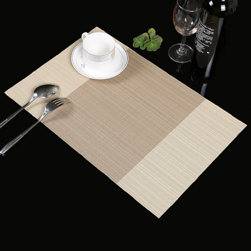 Flavor In 4pcs/set Knitted Caffee Table Mat Non-slip Insulation Mat Cloth Stripe Pattern Cushion Dishes For European Western Restaurant Fragrant