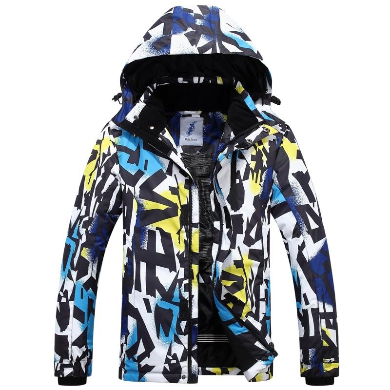 цена на 2018 New Brands Men Waterproof Windproof Warm Ski Snowsuit Fashion Outdoor Sports Ski Jacket free shipping High Quality