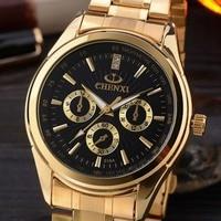 Watches Men Chenxi Gold Quartz Men Watch Full Stainless Men Clock Relogio Masculino Famous Fashion Gift