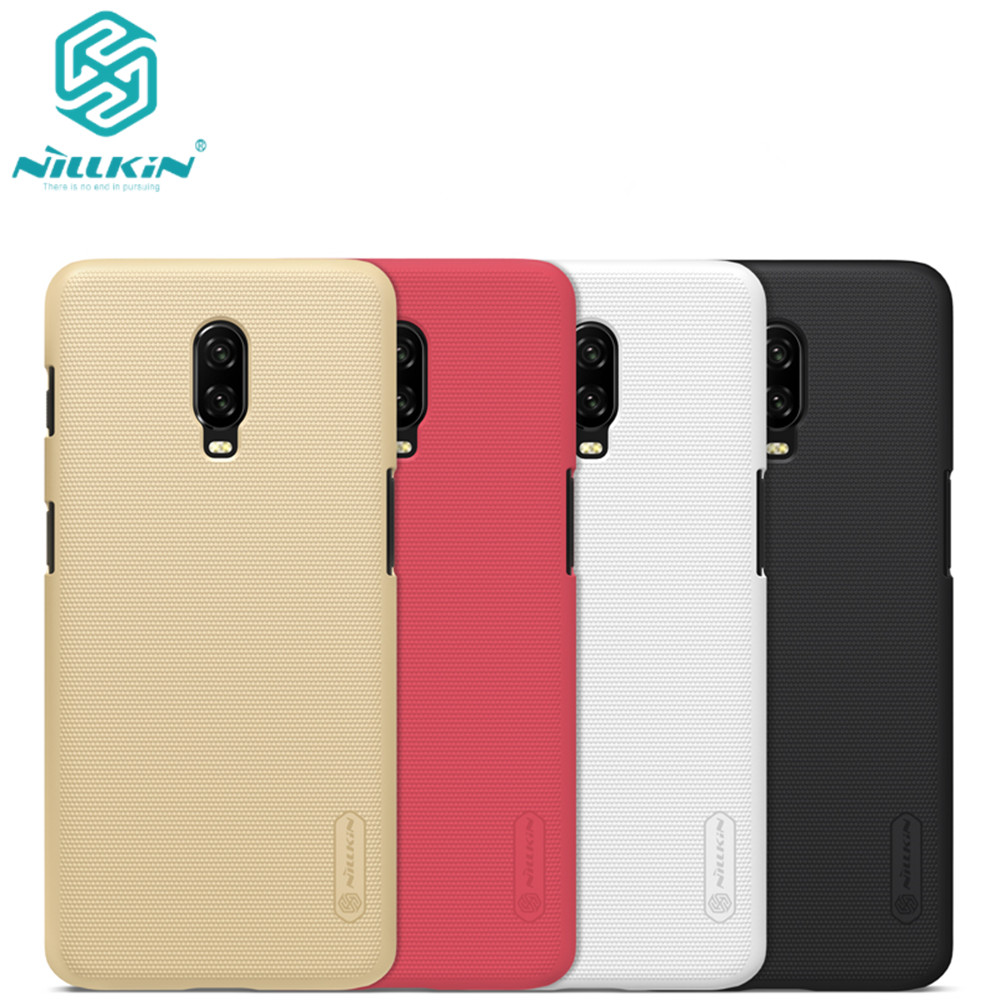 10pcs lot wholesale Nillkin Super Frosted Shield Case For oneplus 6T PC Hard Back Cover Case