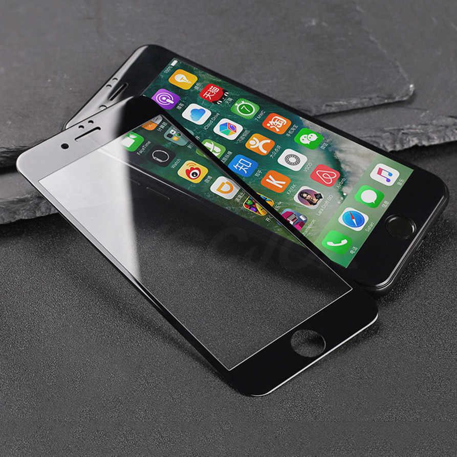 Nuovo 9D Bordo Curvo Copertura Completa di Protezione di Vetro Su Per il iphone 7 8 6 6S Plus Temperato Protezione Dello Schermo per X XR XS Max Pellicola di Vetro
