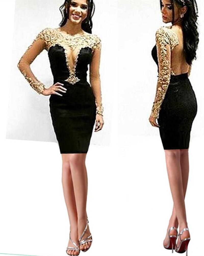 sparkly black and gold short prom dresses 2016 vestidos de