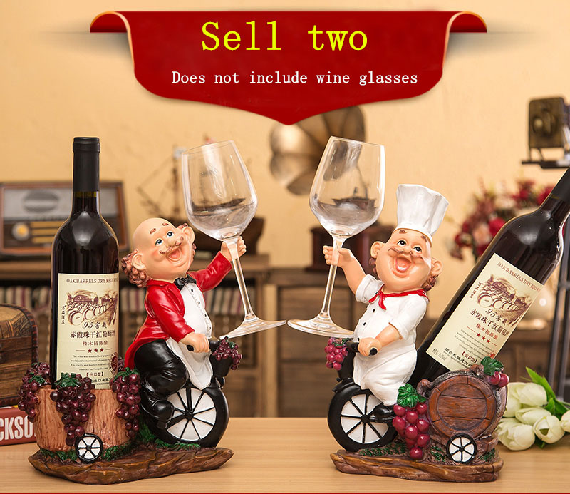 European style Wine Racks Creative Wine Shelf Art Cartoon Home Decoration Red Wine Bottle Racks
