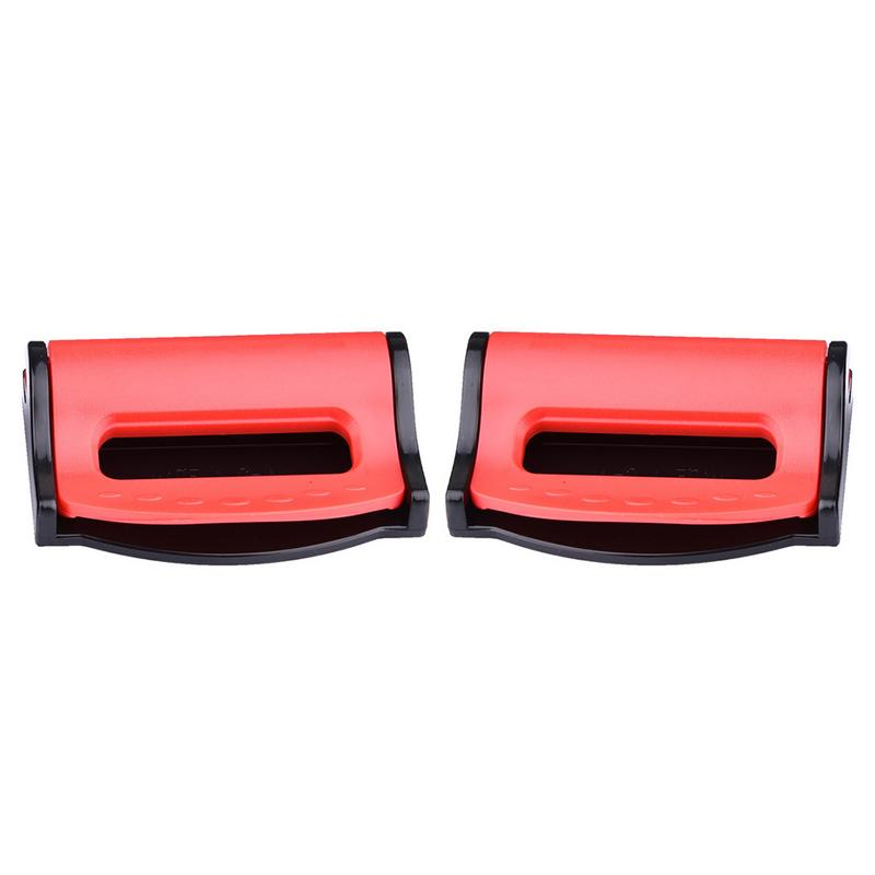 RED SEAT ADJUSTABLE SAFETY BELT STOPPER CLIP CAR TRAVEL 2PCS